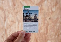 Fichas imprescincibles Galicia para Camping Aldán   María Vilarino Polaroid Film, Note Cards