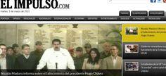"""O jornal venezuelano """"El Impulso"""" dá a notícia da morte do presidente venezuelano, Hugo Chávez, 58, nesta terça-feira, vítima de um câncer na região pélvica, com o qual convivia há cerca de um ano e meio"""