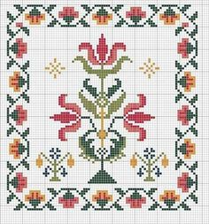Discover thousands of images about Motif Biscornu Cross Stitch, Cross Stitch Pillow, Cross Stitch Borders, Cross Stitch Flowers, Cross Stitch Charts, Cross Stitch Designs, Cross Stitching, Cross Stitch Patterns, Folk Embroidery