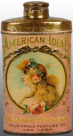 """Description Manufactured by the California Perfume Company. Rare tin with a patent date of """"1901""""."""