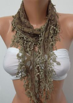 Perfect Accesory  Like a jewelry  Caramel Scarf by womann on Etsy, $16.00