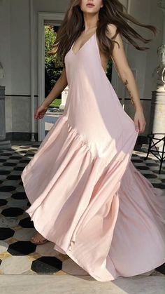 Pink Wedding Guest Dresses, Pink Prom Dresses, Cute Dresses, Casual Dresses, Pink Summer Dresses, Dresses For Women, Wedding Guest Looks, Woman Dresses, Summer Maxi