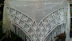 New unique Hand knit crochet handmade mohair shawl sweater wrap scarf white #Handmade #ShawlWrap