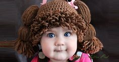 Amanda Lillie makes Cabbage Patch Kids wigs for kids big and small. Like to crochet in the evenings? Download the Cabbage Patch Kids hat pattern here!