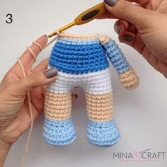 Elsa Amigurumi – Minasscraft Patrones Amigurumis in 2020 Crochet Teddy Bear Pattern, Crochet Dolls Free Patterns, Crochet Bear, Crochet Toys, Diy Crochet, Crochet Doll Tutorial, Crochet Fairy, Baby Knitting, Equestria Girls