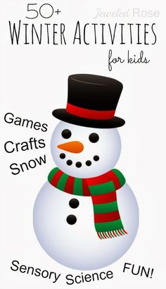 A great collection of Winter activities for kids- so many FUN ideas!