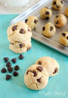 Soft Chocolate Chip Cookies #cookies #cook #recipes #cake