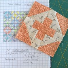 """""""Partially because I'm crazy, but mostly because I don't have time to add a full sized quilt to the list...my #insideadditionquiltalong will be a mini…"""""""
