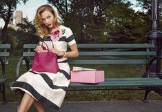 #dresscolorfully kate spade new york spring 2015 featuring karlie kloss