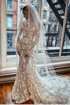 #BERTA dreamy wedding dress now available at our NYC showroom as off-the-rack Stunning Wedding Dresses, Perfect Wedding Dress, Dream Wedding Dresses, Wedding Gowns, Lace Wedding, Long Sleeve Wedding, Wedding Dress Sleeves, Bridal Photoshoot, The Dress