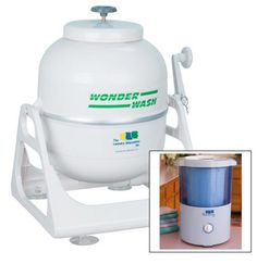 Laundry Alternative Mini Countertop Spin Dryer and Hand Crank Washer Kit. Have the washer, just need the dryer now. Hand Washing Machine, Portable Washing Machine, Washing Machines, Portable Washer And Dryer, Laundry Alternative, Laundry Pods, Small Laundry, Small Rv, Spin Dryers