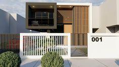 Minimal House Design, Modern Small House Design, Modern Exterior House Designs, Modern House Facades, Modern Villa Design, 2 Storey House Design, House Gate Design, Bungalow House Design, House Front Design