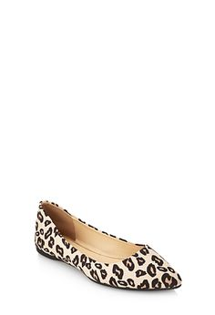 Pointed Leopard Print Flats | FOREVER 21 - 2055879927