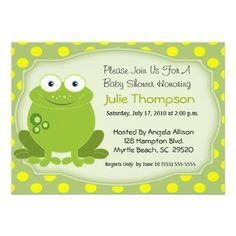 Cutie frog baby shower invitations frog baby shower invitations frog baby shower invitation filmwisefo