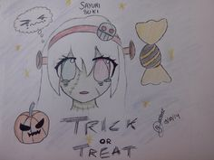Halloween drawing for a french rpg forum