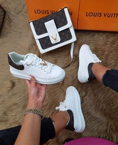 Nadire Atas on Matching Shoes and Bags – Louis Vuitton Shoe Heels Sneakers Mode, Sneakers Fashion, Fashion Shoes, Heels Outfits, Shoes Heels, Louis Vuitton Shoes Sneakers, Chanel Shoes, Chanel Bags, Dream Shoes