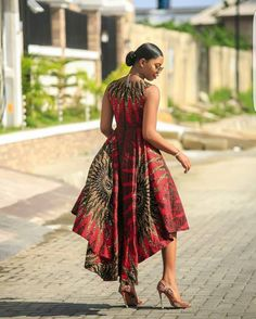 african print dresses This beautiful African print garment is suitable for different occasions. I will carefully sew it for you with high quality fabric prints and make you look Best African Dresses, African Traditional Dresses, Latest African Fashion Dresses, African Print Fashion, Africa Fashion, African Attire, African Dress Designs, Modern African Print Dresses, Ankara Dress Designs