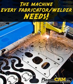 PlasmaCAM CNC plasma cutting system makes cutting any shape out of any material super easy and simple! #welding #fabrication #metalwork