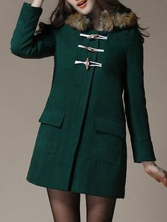 toggled fir green coat for sure~