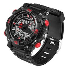 Wrisky Men Digital LED Multifunction Sports Military Alarm Date Wrist Watch Gift ** To view further for this item, visit the image link.Note:It is affiliate link to Amazon.