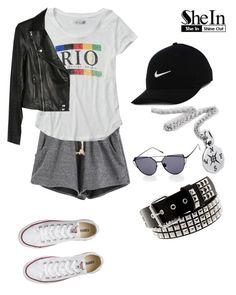 """""""S"""" by lady-shadylady ❤ liked on Polyvore featuring Abercrombie & Fitch, Paige Denim, NIKE, Converse, men's fashion and menswear"""