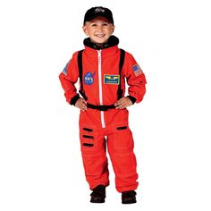 Astronaut Suit with Embroidered Cap and NASA patches