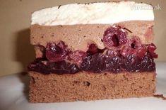 Višňové rezy - Schwarzwälder-Kirschschnitte - recept | Varecha.sk Czech Recipes, Cherry Cake, Dessert Recipes, Desserts, Nutella, Cheesecake, Food And Drink, Cooking Recipes, Yummy Food