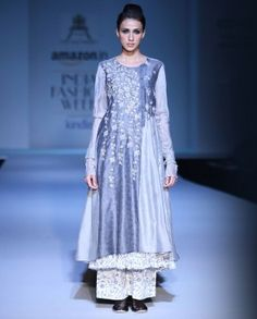 Floral Embroidered Double Layered Kurta Set