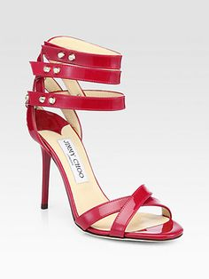 Dive Patent Leather Ankle-Strap Sandals - Zoom - Saks Fifth Avenue Mobile