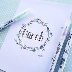 Hello March! . . . . . #hellomarch #monthlyview #monthly #monthlyspread #march #zigrealbrush #pastelcolors #pastelgreen #bujo #bulletjournallayout #bulletjournal #bulletjournalnewbie #bulletjournalcommunity #bujocommunity #planmylife #plannerjoy #planningtime #planplanplan #drawbyme #drawing #doodleplanner #doodling #inspiration #markers #planner #plannerbabe #plannergirl #plannersupplies