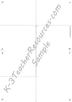 Foldable story book writing frame template (SB3831