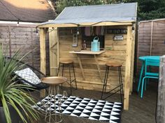 The Crazy Kitchen Party Shed Diy Garden Bar, Home And Garden, Simply Storage, Party Shed, Storing Garden Tools, Crazy Kitchen, Lean To Shed, Wooden Sheds, She Sheds