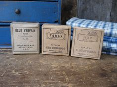 these antique herb boxes are in my shop