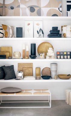 gorgeous shelf styling
