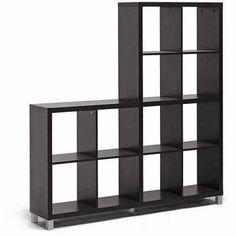 Wholesale Interiors Sunna Modern Cube Shelving Unit, Dark Brown