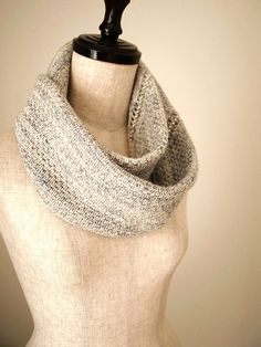 Jeweled Line Cowl by Sachiko Uemura. malabrigo Lace in Natural and Polar Morn colorway.