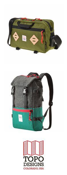 TOPO DESIGNS(トポ デザインズ)   アメリカ発のアウトドアバッグブランド。 通常のナイロンの3倍の強度を持つ米国デュポン社のCODURA1000デニールナイロンを使用するなど、耐久性や防水性などにこだわり抜いた、Made in USAの高機能なバッグが揃います。 ブランドのアイコン的存在であるバックパックは、機能性に加えてデザイン性も高く、カラーバリエーションの豊富さからファッションピープルたちからも注目されています。