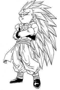 Youbiwara (Posts tagged Dragonball Z) Art Anime, Manga Art, Gogeta Ss4, Dragonball Art, Gesture Drawing Poses, Goten Y Trunks, Dbz Manga, Ball Drawing, Anime Sketch
