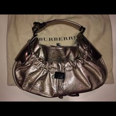 FLASH SALE  Burberry Handbag Preloved authentic Burberry metallic handbag.  Only used twice.  No trades. Burberry Bags