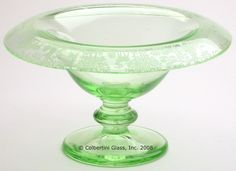 Deerwood Compote by Tiffin Glass 1920s
