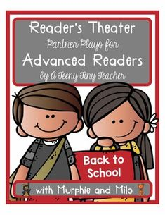 Reader's Theater - These plays can be used for centers, Language Arts activities, fluency practice, partner reading, etc. These plays are designed and created with advanced readers in mind. The font is smaller, there are no picture clues, and varied sentence structure is used without.