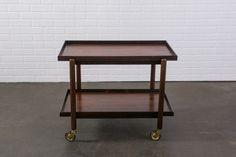 Danish Modern Rosewood Bar Cart by Poul Hundevad  $1100  MIDCENTURY MODERN FINDS
