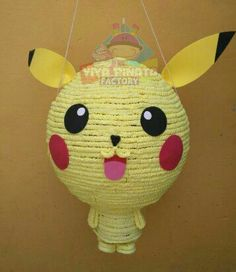 ⚡⚡⚡Piñata Pikachu para todos esos pequeños que aman esta caricatura japonesa que no pasa de moda⚡⚡⚡ #PiñatasPersonalizadas #PiñatasMx