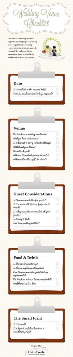 Planning.                                  Wedding Venue Checklist