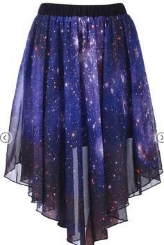 Star night sky galaxy skirt $34.99