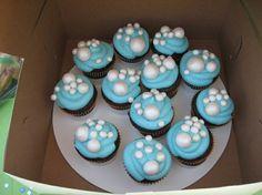 bubble party - bubble cupcakes