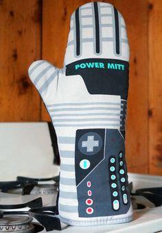 Man Cooking :: Power Mitt Oven Glove