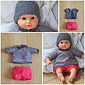 Voici des petits vêtements pour bébé Corolle (poupon de 30cm) faits maison ! Je suis partie de patrons pour vêtements de bébé (en 3...