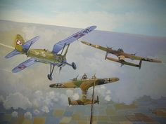 September 1st 1939- a Polish PZL P-IIc fighter shoots down two German Dornier 17Es in the early hours of the opening day of the German Invasion of Poland- the first Allied aerial victories of the Second World War.