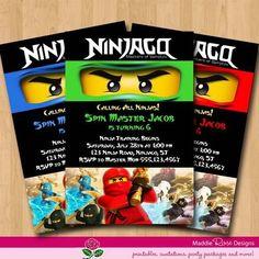 Lego Ninjago Party Invitation Printable Free